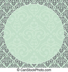 Vector baroque damask frame