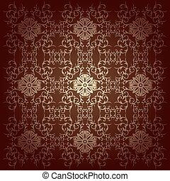 Vector baroque flowers background