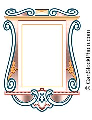 Vector - baroque frames and decorative elements - vintage banner with ribbon