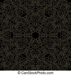 Vector baroque ornament in Victorian style. Ornate element for design. Toolkit for designer. Golden ornamental pattern for greeting cards. Traditional floral decor.