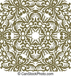 Vector baroque ornament in Victorian style. Ornate element for design. Toolkit for designer. Golden ornamental pattern for wedding invitations and greeting cards. Traditional floral decor.