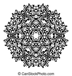 Vector baroque ornament in Victorian style. Ornate element for design. Toolkit for designer. Traditional floral decor. Round element for design. EPS 8