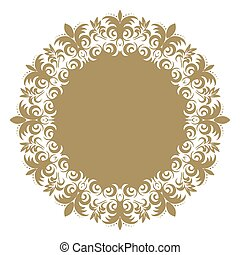 Vector baroque ornament in Victorian style. Ornate element for design. Toolkit for designer. Traditional floral decor. EPS 8