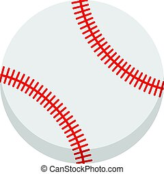 Vector baseball ball. Isolated on white background.