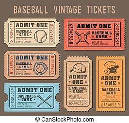 Vector Baseball invite Tickets