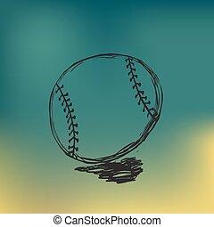 vector baseball sketch