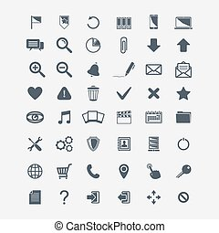 Vector basic Web icons big set