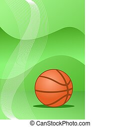 Vector basketball background