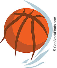 vector basketball ball on the white background