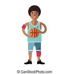 Vector Basketball. Flat style colorful Cartoon illustration.