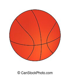 Vector Basketball isolated