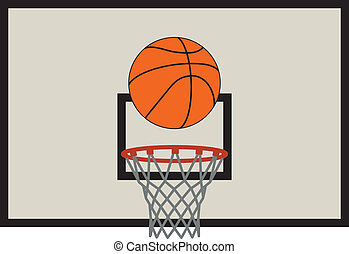 vector  basketball net and backboard set