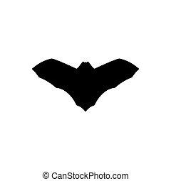 Vector bat silhouette