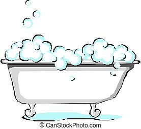 Vector Bath. Vector illustration on white background