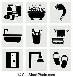Vector Bathroom icon set