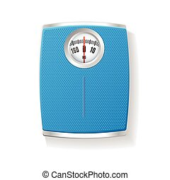 Vector Bathroom Scale isolated on a white