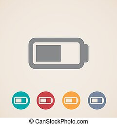 vector battery icons