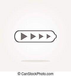 vector Battery web icon button