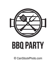 Vector bbq sign icon