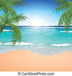 Vector Beach Background