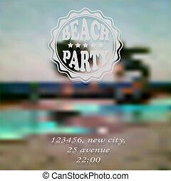 Vector Beach Party Invitation