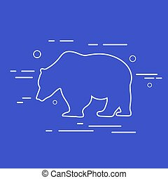 Vector Bear Line Icon.