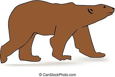Vector bear silhouette logo