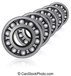 vector bearings illustration on a white background