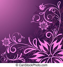 vector beautiful abstract floral background