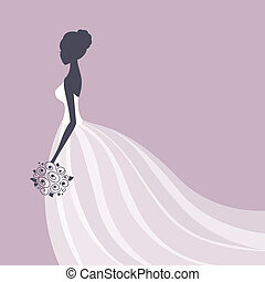 Vector Beautiful Bride
