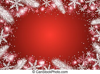 Vector beautiful christmas background concept design of white snowflake and fir branch with copy space