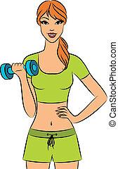 beautiful fitness woman - Vector beautiful fitness woman...