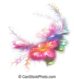 Vector beautiful flower on white background
