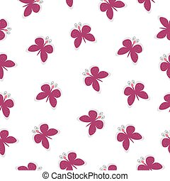 vector beautiful seamless pattern on white background with pink