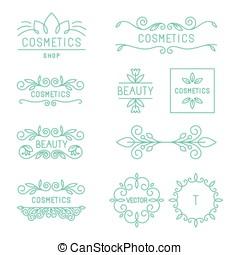 Vector beauty and cosmetics logos