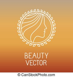 Vector beauty and spa line logo