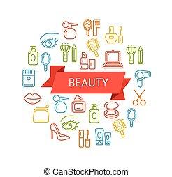 Vector Beauty Outline Concept