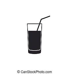 vector, bebida, isolated., design., icono, plano, ...