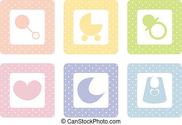 vector beby icon set