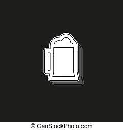 vector beer glass, mug illustration - drink alcohol sign symbol
