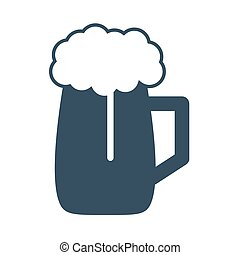 Vector beer Icon on white background.