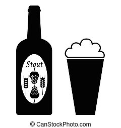 vector beer icons.
