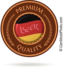 Vector beer mat. Isolated on white.