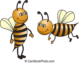bees - vector bees