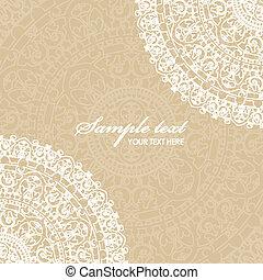 beige background with napkin - Vector beige background with ...