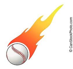 vector, beisball, llamas