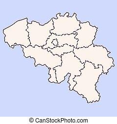 Belgium contour map