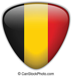 Belgium Flag Glossy Button - Vector - Belgium Flag Glossy ...