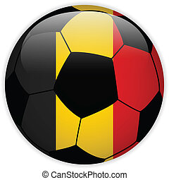 Belgium Flag with Soccer Ball Background