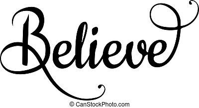 believe - vector believe